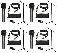 4 Stück LD Systems MICSET1 Mikrofonset m. Mikrofon Mikrofonständer 5m Mikrokabel