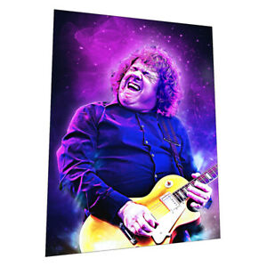 """Skid Row and Thin Lizzy guitar legend """"Gary Moore"""" Wall Art - Graphic Art Poster"""