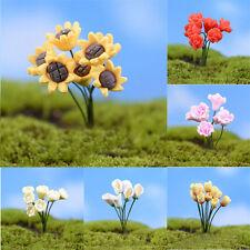 2Pcs Miniature Micro Flowers Fairy Garden Landscape Bonsai DIY Decoration