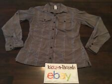 PATAGONIA LONGSLEEVE BUTTON DOWN SHIRT ( WOMENS SIZE 6 ) FITTED STRIPED PREOWNED