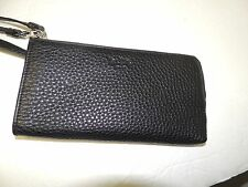 Coach BLEEKER Leather with LZIP in black pebbled leather NWT