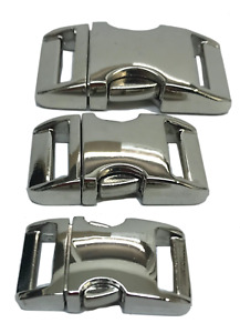 Alu-Max Strong Metal Buckles, Ideal for Dog Collars etc, 3 sizes - 2 colour opt