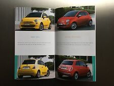 Fiat 500, 500C Technical Specification and Customisations Brochure