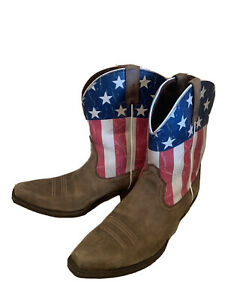 womens american flag cowboy boots