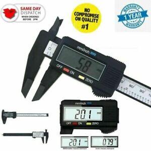 Digital Vernier Caliper Electronic LCD Ruler Gauge Micrometer Tool Micrometer UK