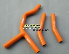 For KTM 200/250/300 EXC/XC 2004-2007 04 05 06 07 Silicone Radiator Hose Orange