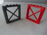 LEGO PART 6448 GREY AND RED 1 x 6 x 5 RECTANGULAR GIRDER SUPPORT