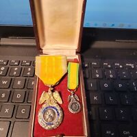 1852-70 2nd Empire Médaille  Medal +Mini Medal  in Original Box Looks PERFECT
