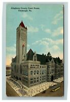 Pittsburgh PA, Allegheny County Courthouse, Pennsylvania c1910 Postcard Z56