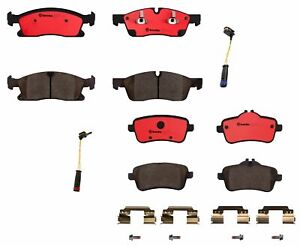 Brembo Front and Rear Ceramic Brake Pads with Sensors Kit For Mercedes-Benz X166