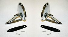 NEW! 1965 - 1966 Mustang Chrome Outside Mirror Right & Left Side Pair Mirrors