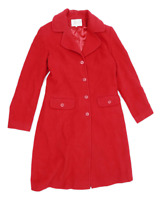 Lakeland Womens Size 12 Wool Blend Red Peacoat
