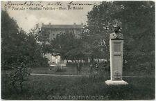 1911 Torino - Pinerolo, Giardino Pubblico Mon. De Amicis, bicicletta - FP B/N VG