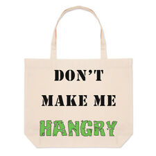 Don't Make Me Hangry Large Beach Tote Bag - Hungry Angry Food Funny Shoulder