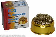 ECG JA-20 Tip Cleaning Ball for Solder Irons. Brass Wire with Holding Cup