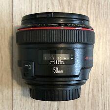 Canon EF 50mm f1.2 L USM Fast Standard Prime Lens
