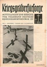 Zeitschrift 1950 Januar Kriegsgräberfürsorge Mitteilungen Berichte 26. Jahrgang