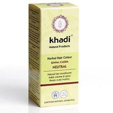 KHADI HERBAL HAIR COLOUR - SENNA/ CASSIA NEUTRAL LONG LASTING COLOUR - CERTIFIED