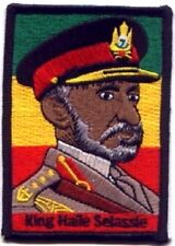 """King Haile Selassie Embroidered Patches 3.5""""x2.5"""""""
