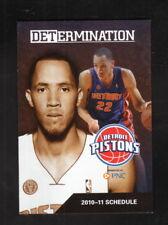 Detroit Pistons--Tayshaun Prince--2010-11 Pocket Schedule--Fox Sports Detroit