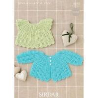 Sirdar Baby Crochet Pattern 4510 - Matinee Coat + Angel Top - 4 Ply birth - 2 yr