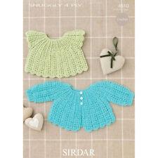 Sirdar Baby Crochet Pattern 4510-Matinee Giacca + Angel top - 4 strati Nascita - 2 ANNO