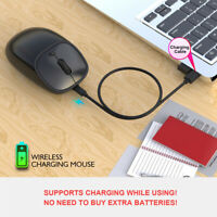 Gaming Mouse Adjustment Ergonomic 2400DPI USB Rechargeable 2.4G Mice for PC MBS
