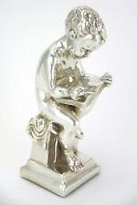 Sculpture sterling silver boy reading a book Judaica Israel