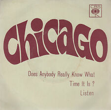 """CHICAGO-DOES ANYBODY REALLY KNOW WHAT TIME IT IS?-ORIGINAL INDIAN 7"""" 45rpm 1970"""