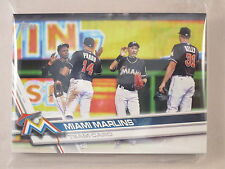 2017 Topps Series 1, 2 and Update Complete Team Set - Miami Marlins