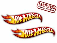 2 PVC Vinyle Autocollants Hot Wheels Tuning Racing Stickers Voiture GP Auto Moto