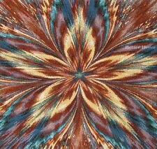 """20"""" DECORATIVE TAPESTRY PILLOW COVER Abstract Floral Ornament CUSHION ACCENT"""