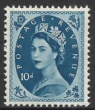 Great Britain Scott 329 Mlh Vf/Xf - 1956 10p Royal Blue Issue Cat $20.00