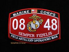 MOS 0848 FIELD ARTILLERY OPERATIONS MAN US MARINES PATCH PIN UP SCHOOL WOW GIFT