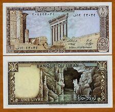 Lebanon, 1 Livre, 1980, Pick 61 (61c), UNC
