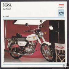 1991 Minsk 125cc MMVZ (123cc) Belarus Bike Motorcycle Photo Spec Info Atlas Card