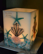 WAX CANDLE LANTERN EXTRA LARGE-STARFISH SHELLS BEACH WEDDING, HOME , 3 COLOURS