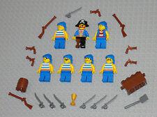 LEGO Minifigures 7 Pirates Army Guns Weapons Swords Pistols Blue Lego Minifigs