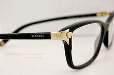 Brand New VERSACE Eyeglasses Frames 3156 GB1 BLACK for Women 100% Authentic