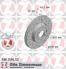 garnitures arrière TOYOTA YARIS p9 p13 Zimmermann Disques De Frein 278 mm