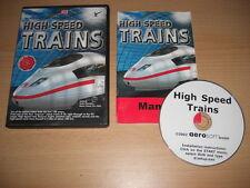 Trenes de alta velocidad PC CD ROM Add-On Pack de expansión Microsoft Tren Simulador Sim