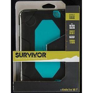 """Black/ Pool Blue Survivor for 7"""" Kindle Fire HD (2012 model only)"""