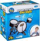 Music Kids Black Drum Set Musical Instrument Toy Sound Effect Gift 3