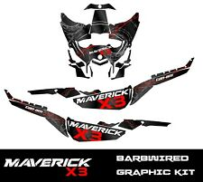 Maverick X3 Graphic Kit Can-Am sticker Decals CamAm UTV SXS Wrap 17 18 19 barbwi