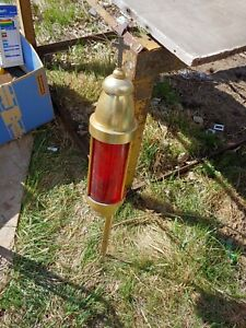 Vintage Arthur Allen memorial lamp candle holder red cross mount