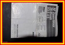 Nikon NIKKOR 28-85/3.5-4.5 AFD manual de instrucciones MULTILENGUAJE