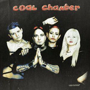 Vintage Blue Grape Coal Chamber T-Shirt 1999 Mens XL Black Band 90s USA