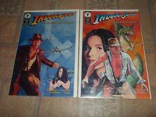 Indiana Jones and the Golden Fleece #1 & 2 Dark Horse Comic Book Set 1-2 RARE!