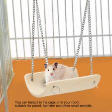 Bamboo Parrot Hamster Swing Hanging Cage Toy Chinchilla Mouse Perch Pet Toy