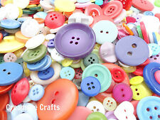 100 Mixed Buttons Assorted Sizes Colours Craft Sewing Cardmaking Embellishments